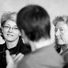 Billeder af familieterapi